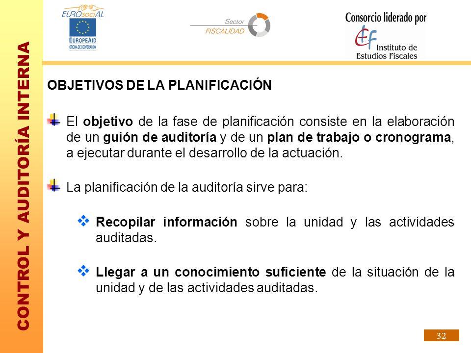 OBJETIVOS DE LA PLANIFICACIÓN
