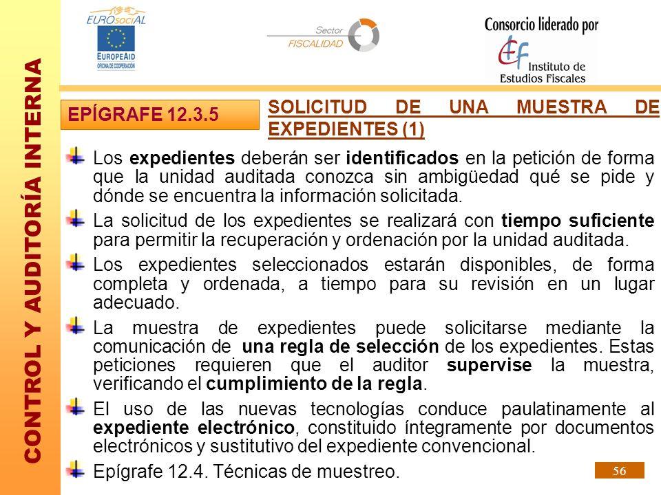 SOLICITUD DE UNA MUESTRA DE EXPEDIENTES (1)