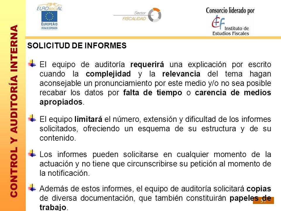 SOLICITUD DE INFORMES