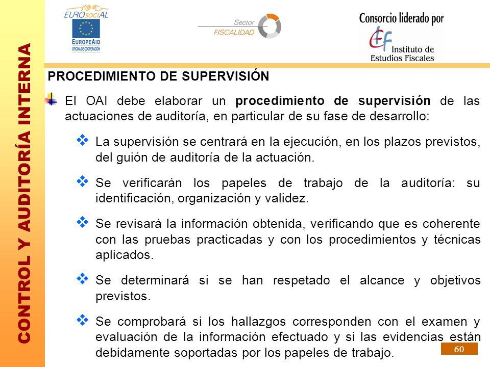 PROCEDIMIENTO DE SUPERVISIÓN