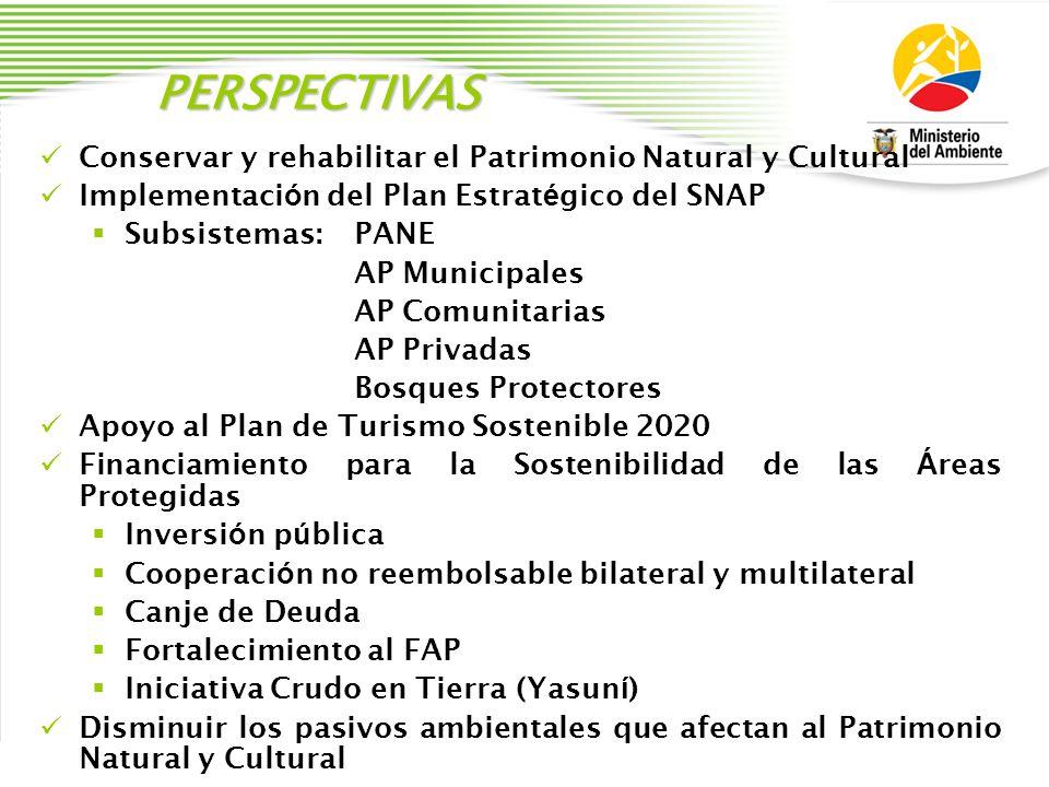 PERSPECTIVAS Conservar y rehabilitar el Patrimonio Natural y Cultural