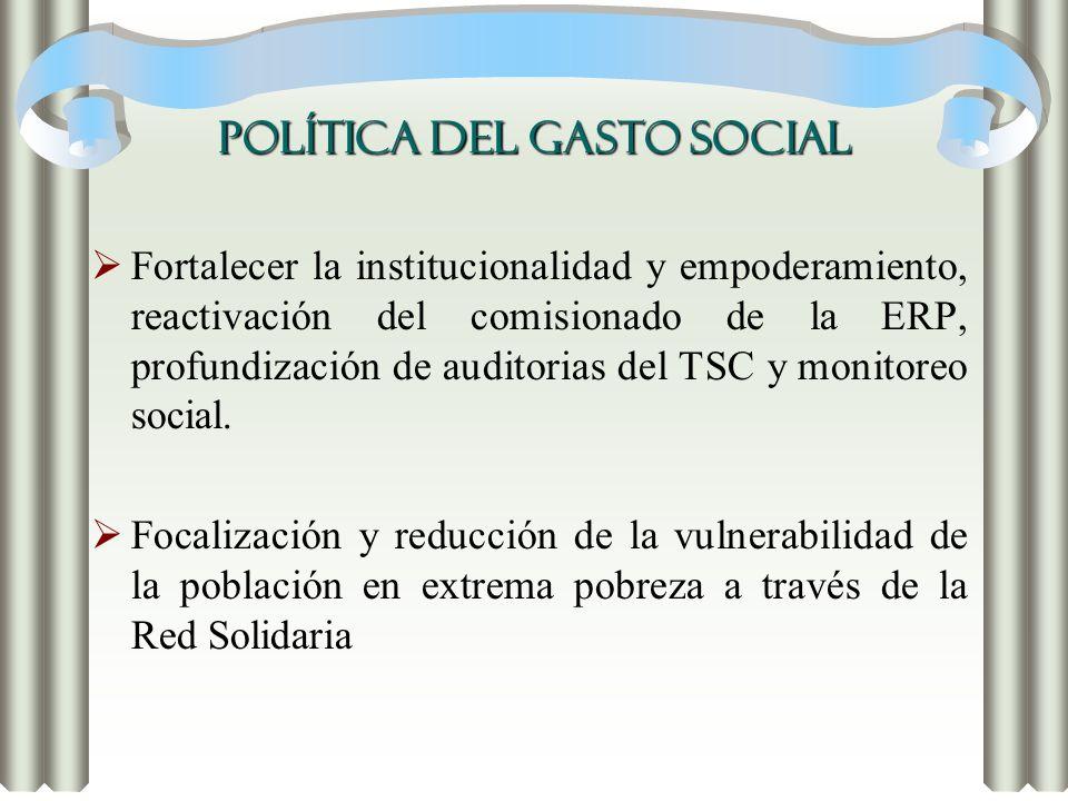 POLÍTICA DEL GASTO SOCIAL