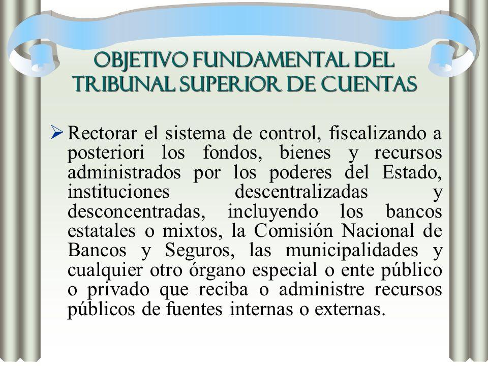 OBJETIVO FUNDAMENTAL DEL TRIBUNAL SUPERIOR DE CUENTAS