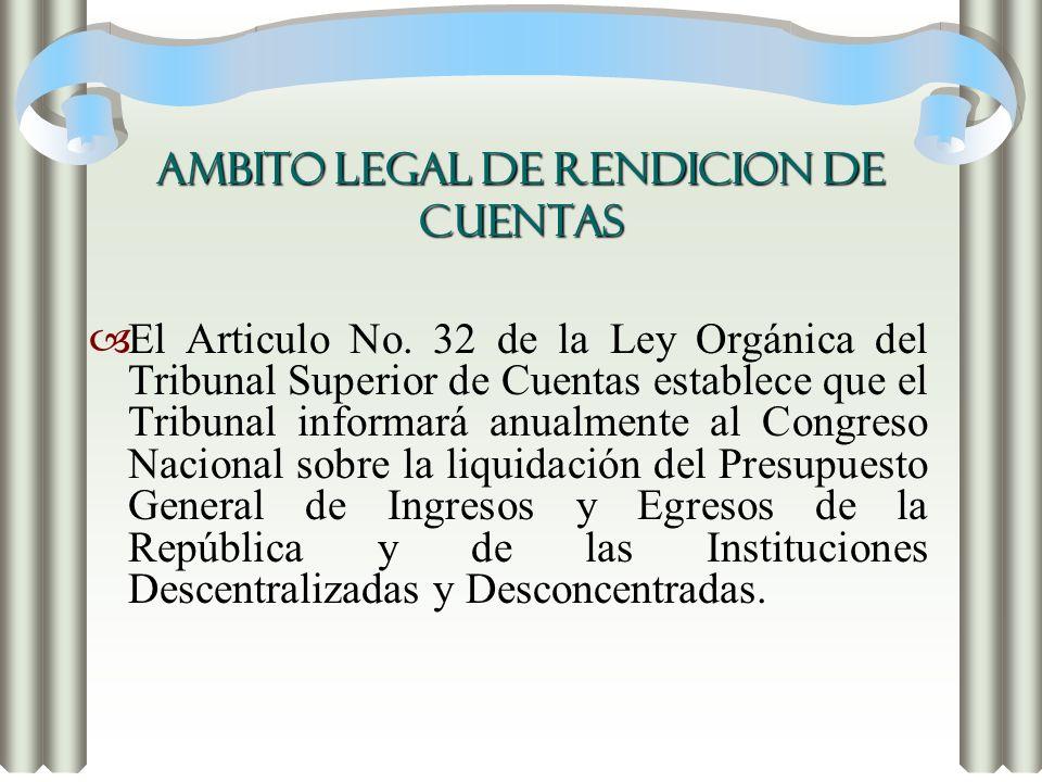 AMBITO LEGAL DE RENDICION DE CUENTAS
