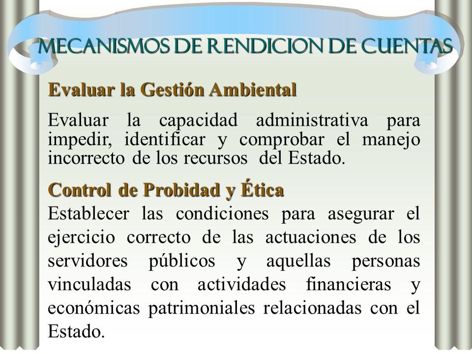 MECANISMOS DE RENDICION DE CUENTAS