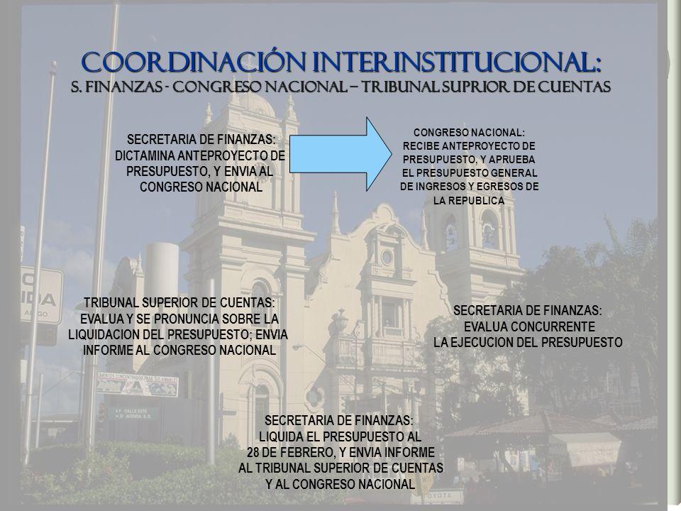 COORDINACIÓN INTERINSTITUCIONAL: S