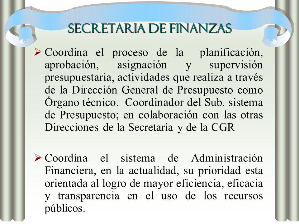 SECRETARIA DE FINANZAS