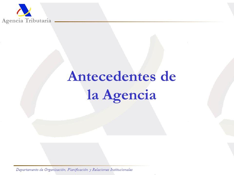 Antecedentes de la Agencia