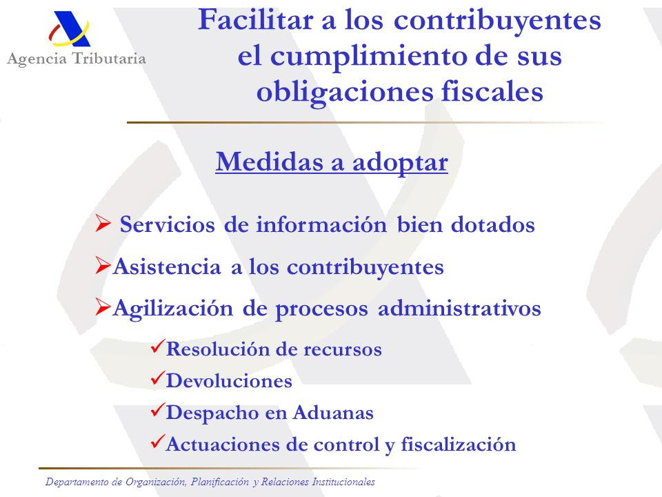 Facilitar a los contribuyentes obligaciones fiscales