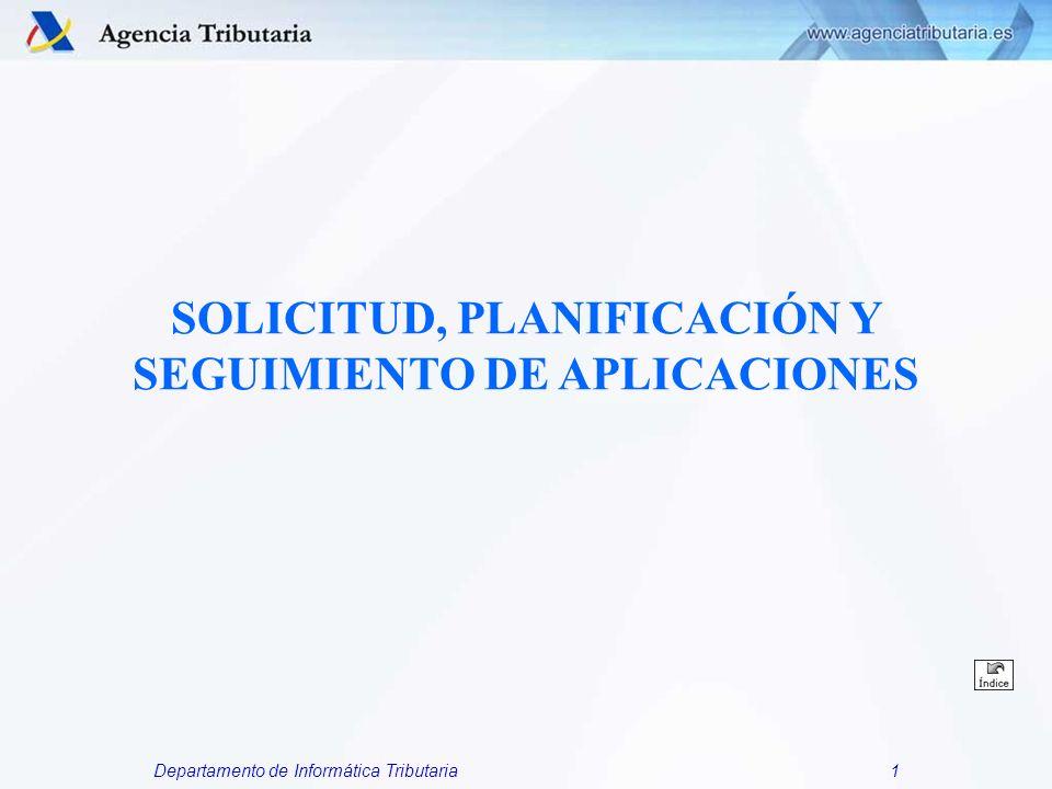 SOLICITUD, PLANIFICACIÓN Y SEGUIMIENTO DE APLICACIONES