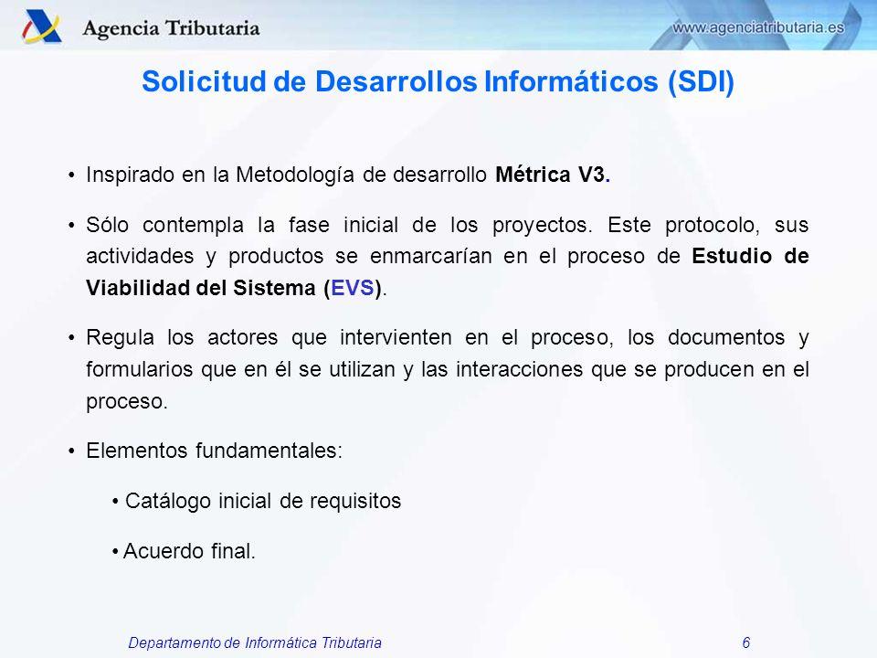 Solicitud de Desarrollos Informáticos (SDI)