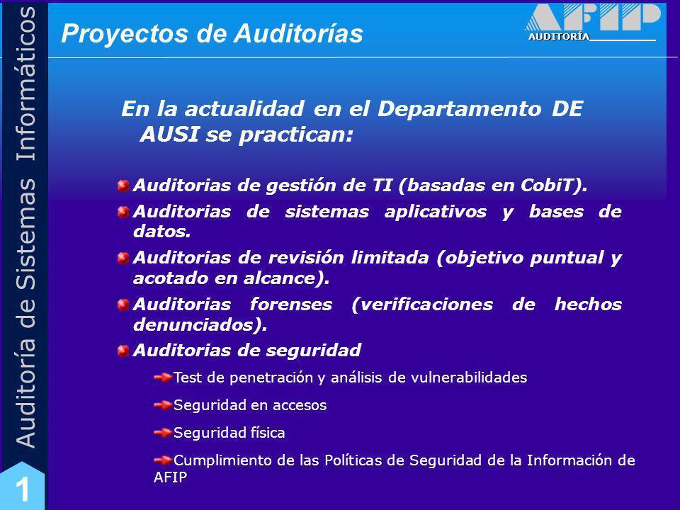 Proyectos de Auditorías