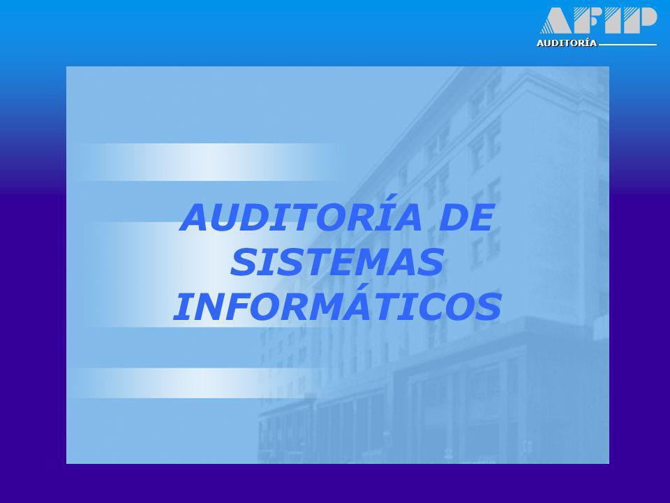 AUDITORÍA DE SISTEMAS INFORMÁTICOS