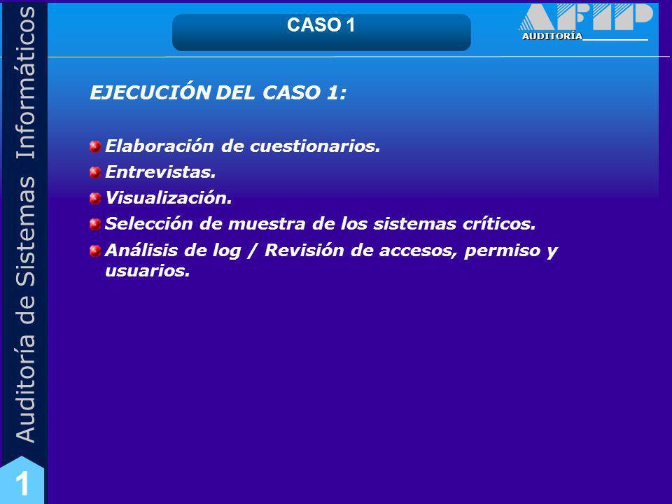 CASO 1 EJECUCIÓN DEL CASO 1: Elaboración de cuestionarios.