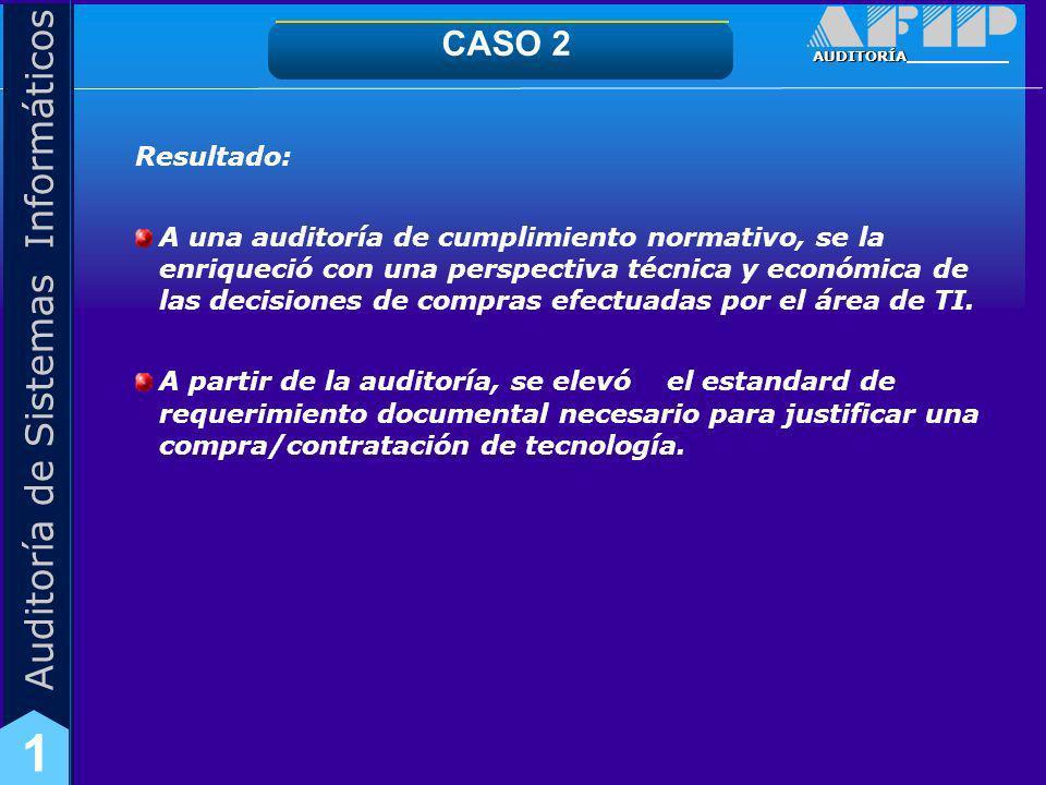 CASO 2Resultado: