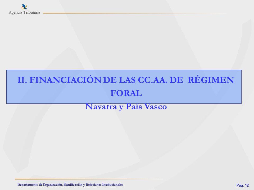 II. FINANCIACIÓN DE LAS CC.AA. DE RÉGIMEN FORAL