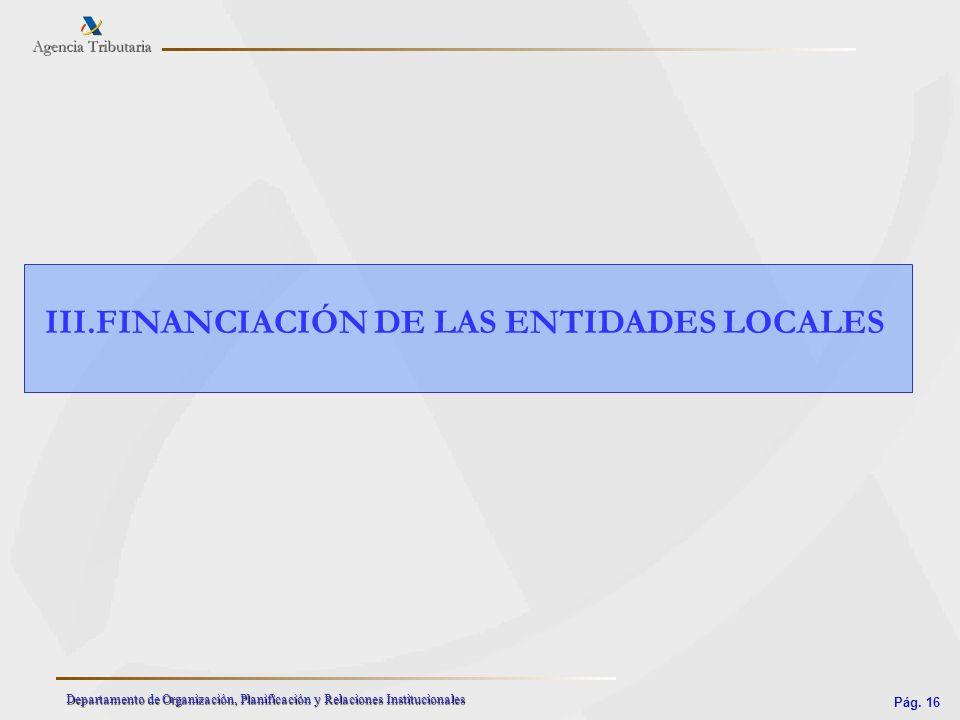 III.FINANCIACIÓN DE LAS ENTIDADES LOCALES