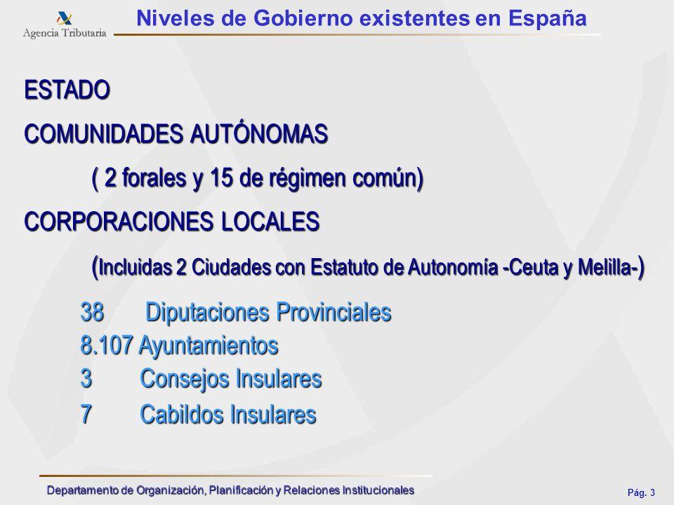 COMUNIDADES AUTÓNOMAS ( 2 forales y 15 de régimen común)