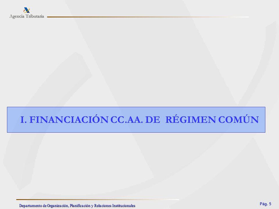 I. FINANCIACIÓN CC.AA. DE RÉGIMEN COMÚN