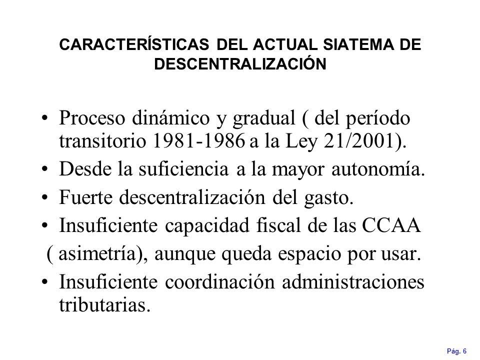 CARACTERÍSTICAS DEL ACTUAL SIATEMA DE DESCENTRALIZACIÓN