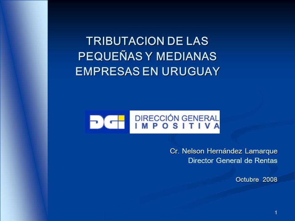 TRIBUTACION DE LAS PEQUEÑAS Y MEDIANAS EMPRESAS EN URUGUAY