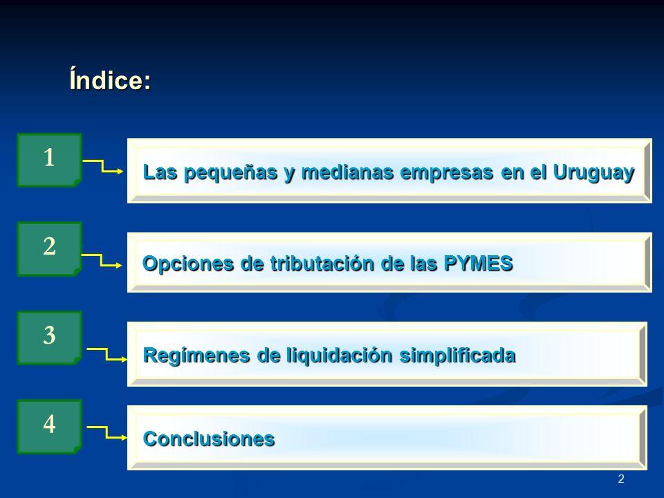1 2 3 4 Índice: Las pequeñas y medianas empresas en el Uruguay