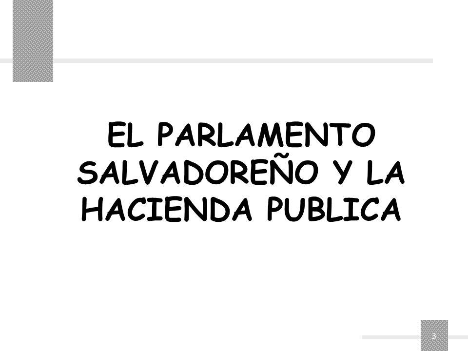 EL PARLAMENTO SALVADOREÑO Y LA HACIENDA PUBLICA
