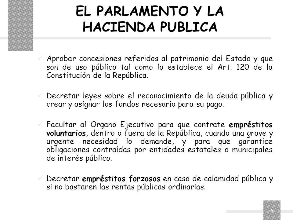EL PARLAMENTO Y LA HACIENDA PUBLICA