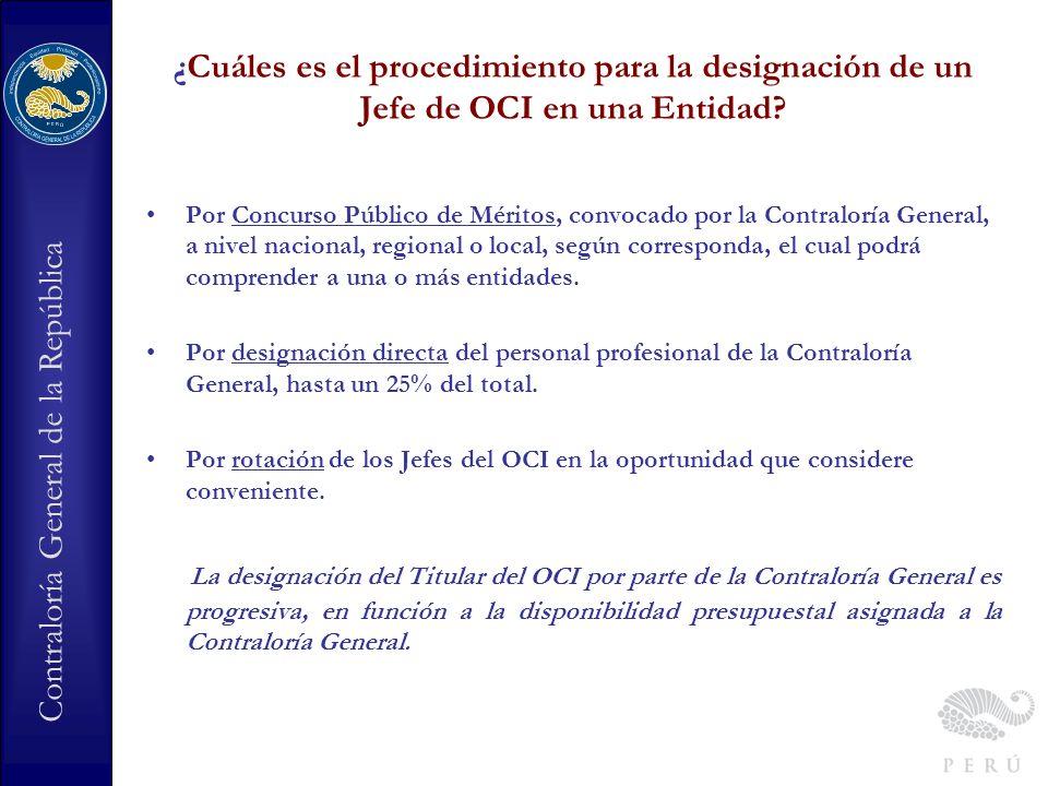 ¿Cuáles es el procedimiento para la designación de un Jefe de OCI en una Entidad