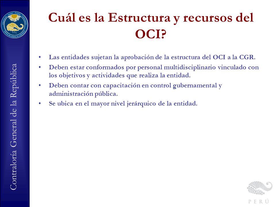 Cuál es la Estructura y recursos del OCI