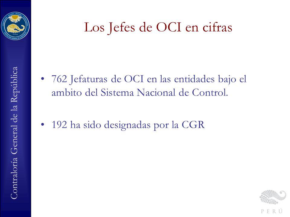 Los Jefes de OCI en cifras