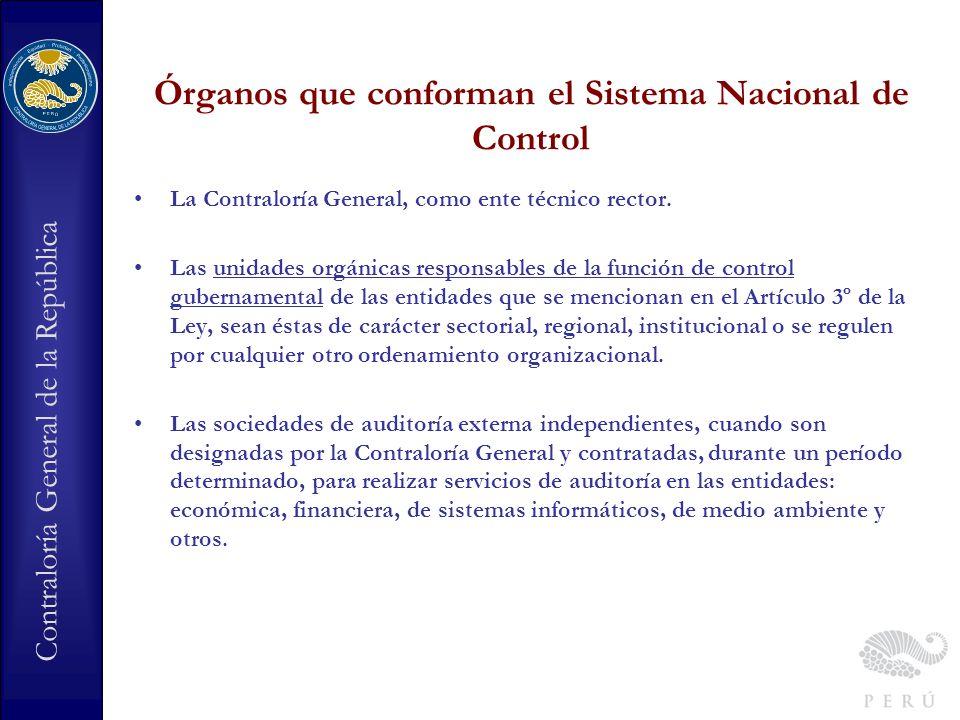 Órganos que conforman el Sistema Nacional de Control