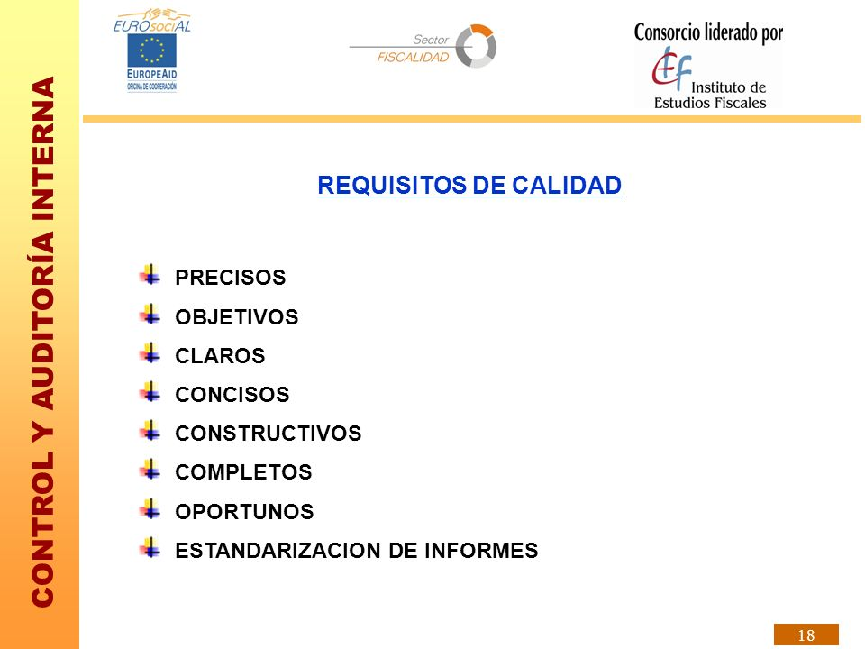 REQUISITOS DE CALIDAD PRECISOS OBJETIVOS CLAROS CONCISOS CONSTRUCTIVOS