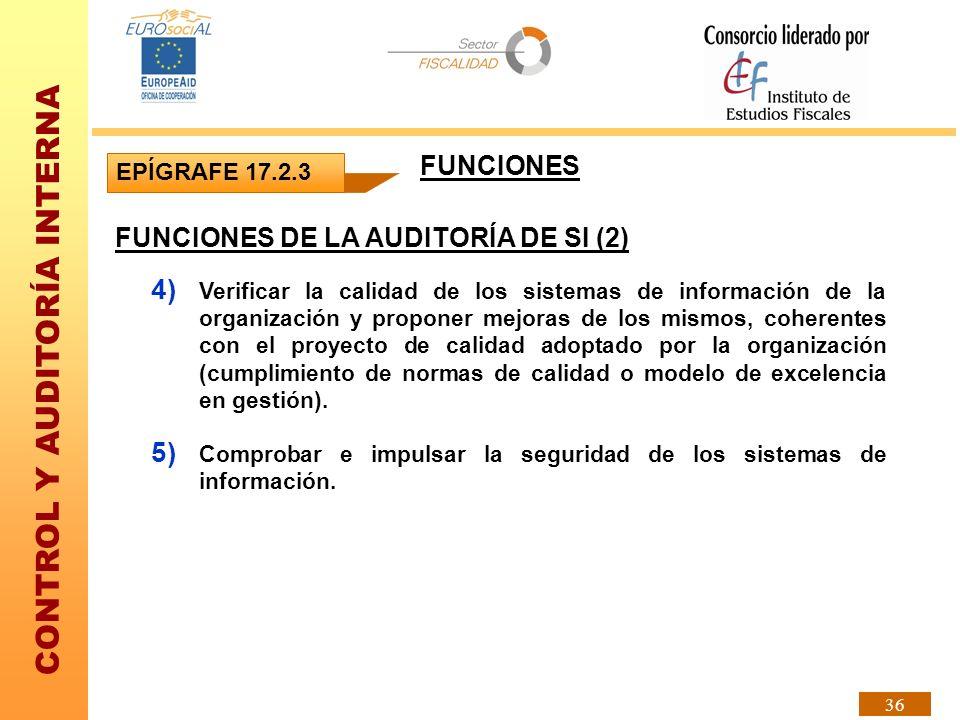 FUNCIONES DE LA AUDITORÍA DE SI (2)