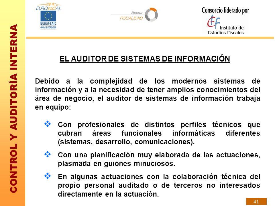 EL AUDITOR DE SISTEMAS DE INFORMACIÓN