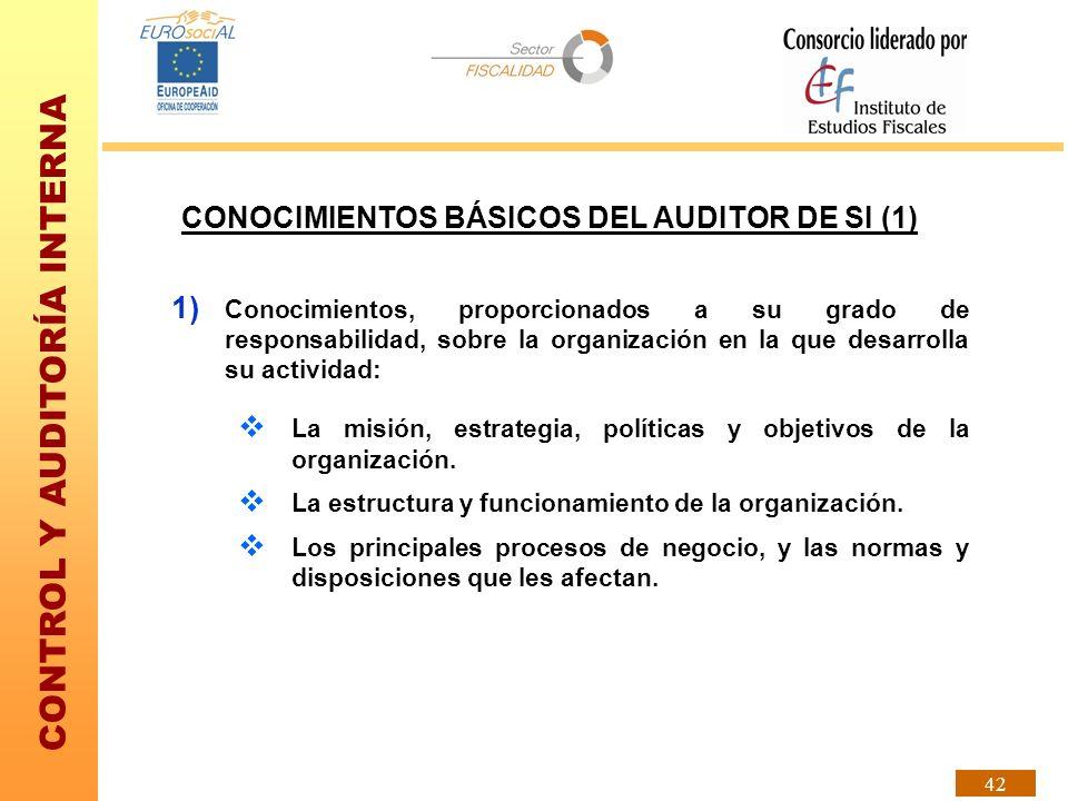 CONOCIMIENTOS BÁSICOS DEL AUDITOR DE SI (1)