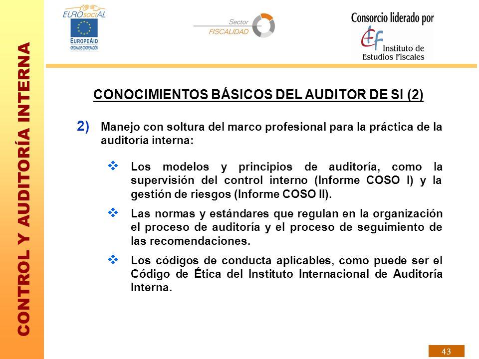 CONOCIMIENTOS BÁSICOS DEL AUDITOR DE SI (2)
