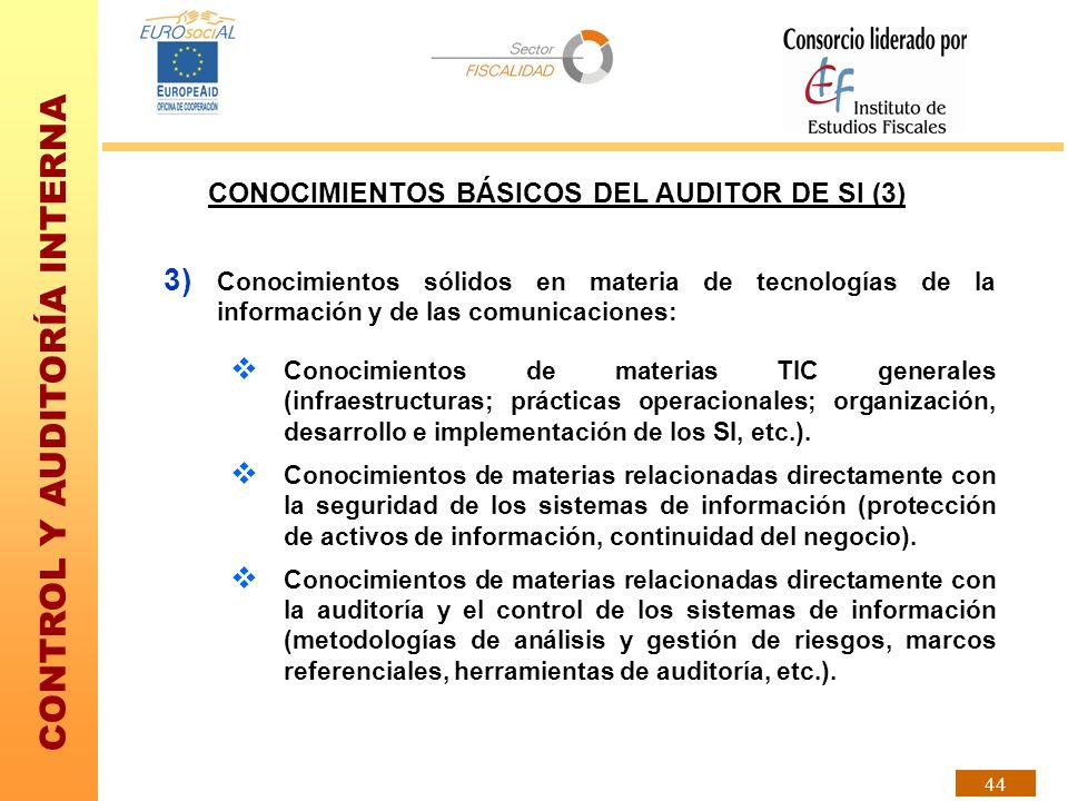 CONOCIMIENTOS BÁSICOS DEL AUDITOR DE SI (3)