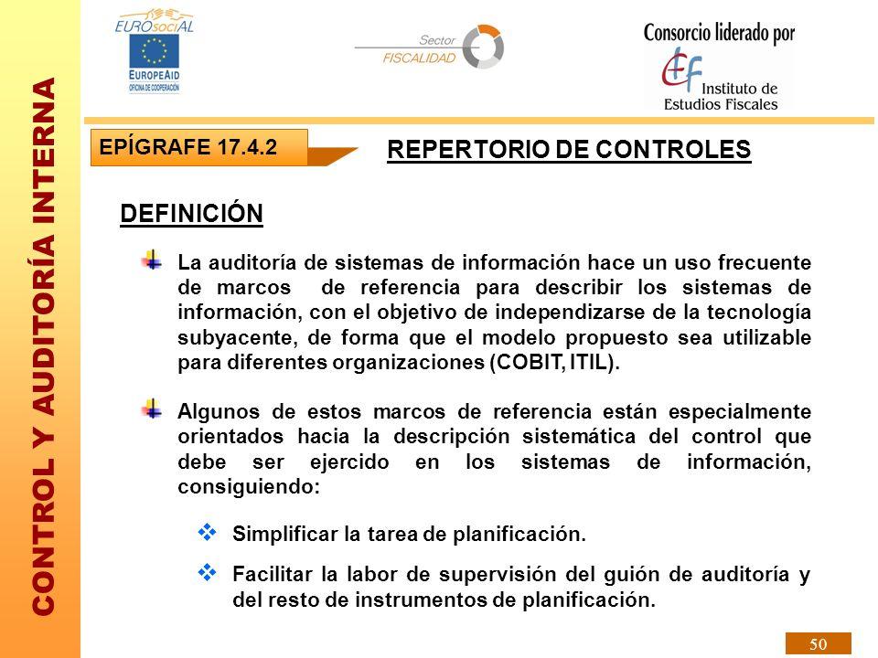 REPERTORIO DE CONTROLES