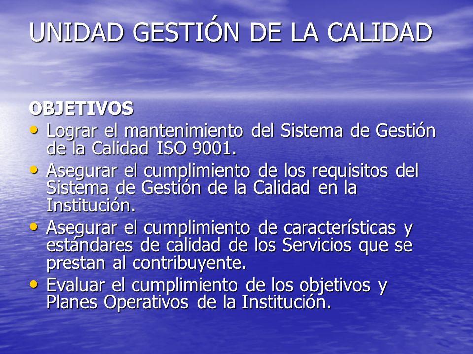 UNIDAD GESTIÓN DE LA CALIDAD