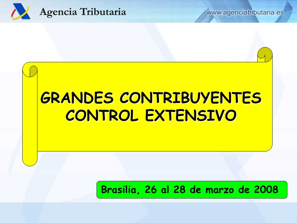 GRANDES CONTRIBUYENTES CONTROL EXTENSIVO