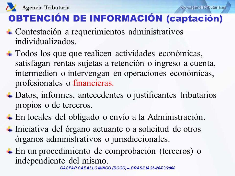 OBTENCIÓN DE INFORMACIÓN (captación)