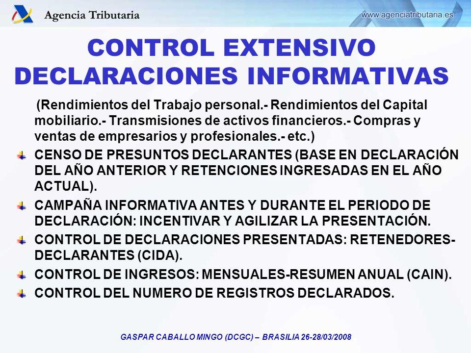 CONTROL EXTENSIVO DECLARACIONES INFORMATIVAS