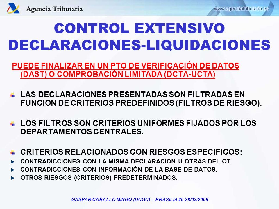 CONTROL EXTENSIVO DECLARACIONES-LIQUIDACIONES