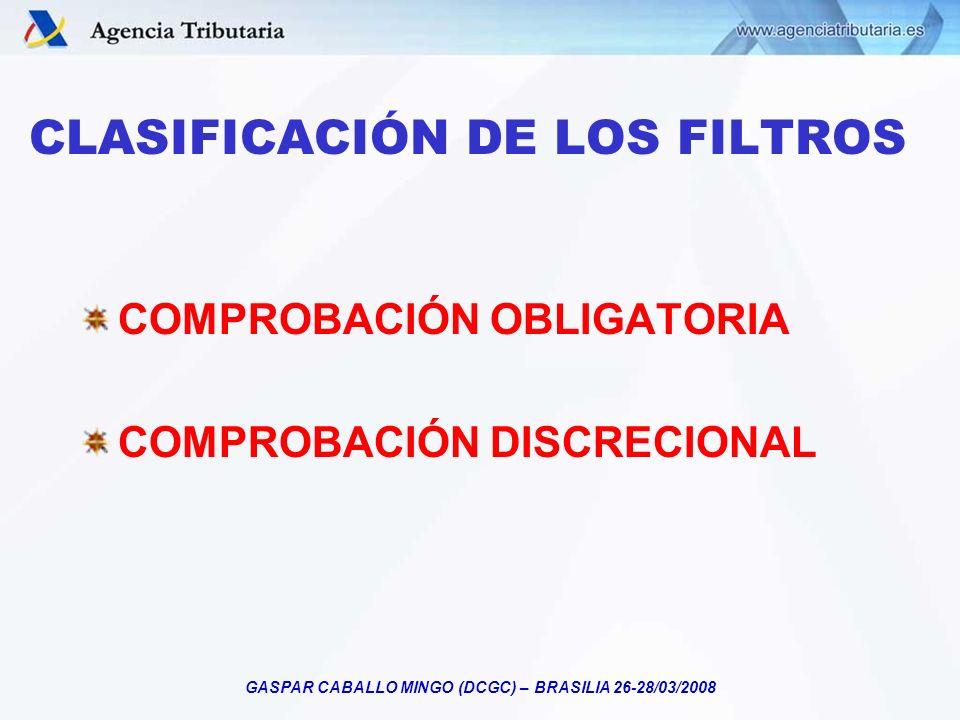 CLASIFICACIÓN DE LOS FILTROS