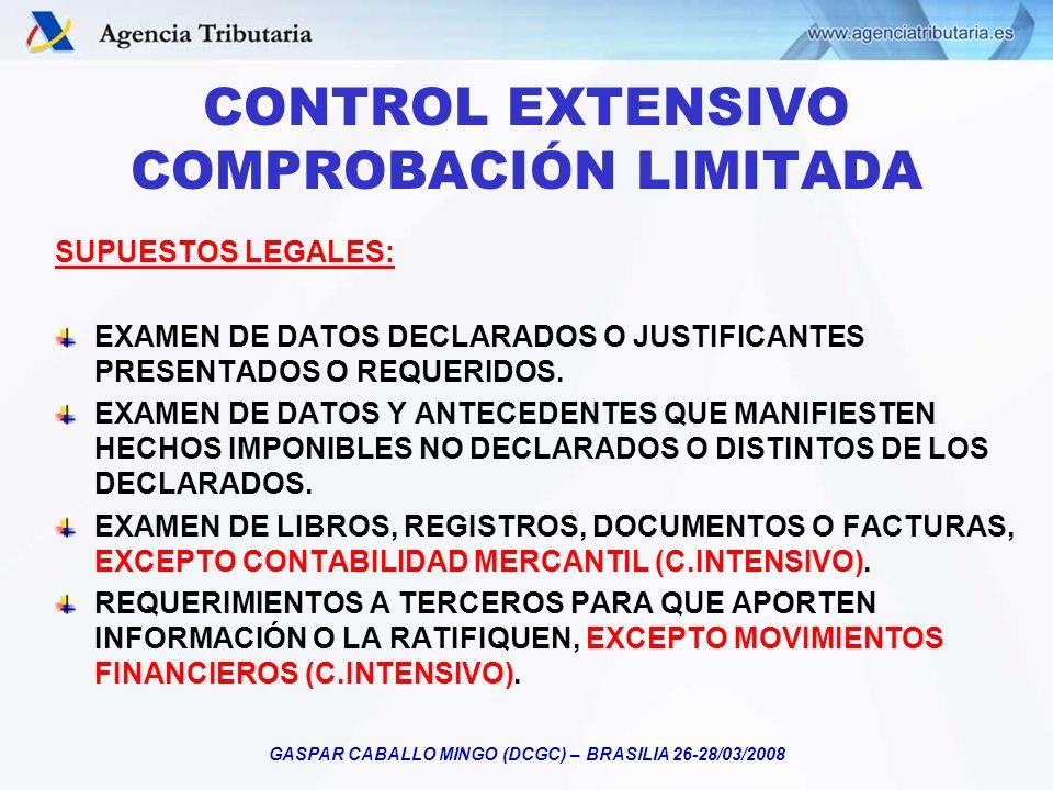 CONTROL EXTENSIVO COMPROBACIÓN LIMITADA