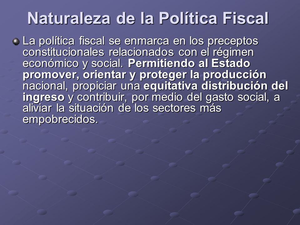 Naturaleza de la Política Fiscal