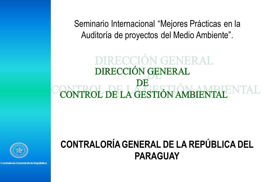 CONTRALORÍA GENERAL DE LA REPÚBLICA DEL PARAGUAY
