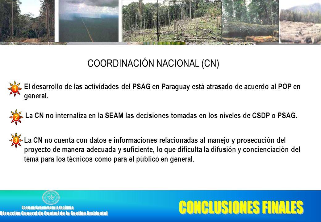 CONCLUSIONES FINALES COORDINACIÓN NACIONAL (CN)