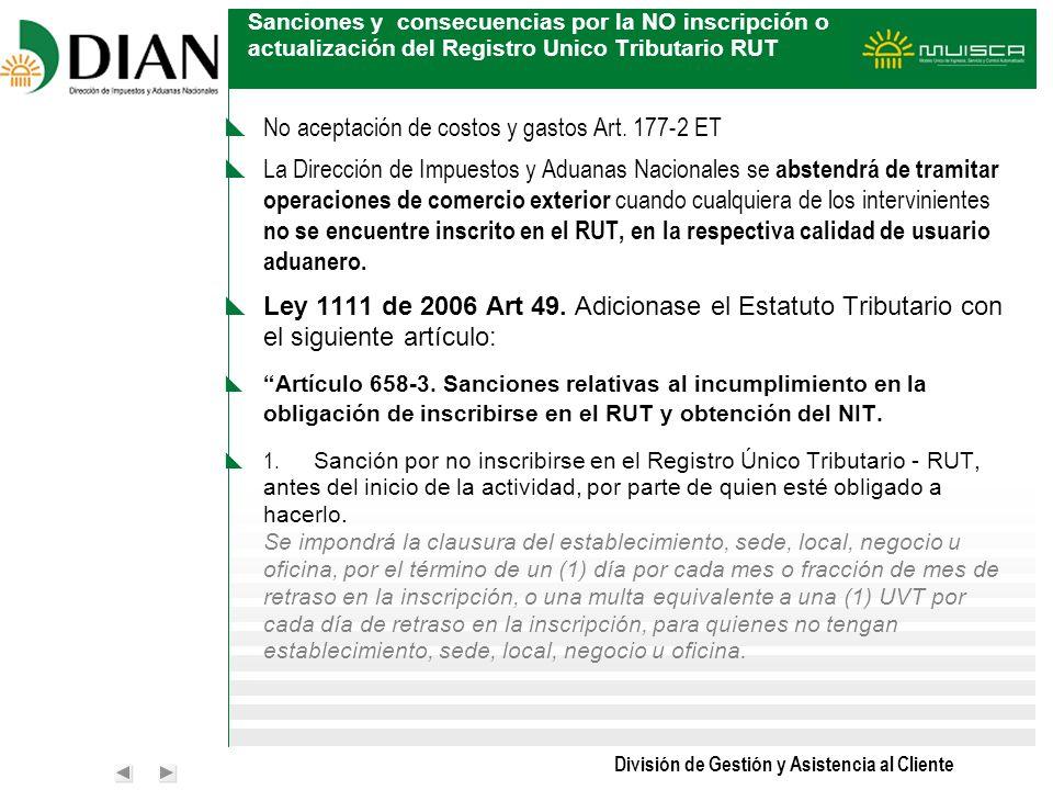 No aceptación de costos y gastos Art. 177-2 ET